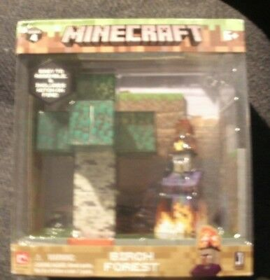 NIB NEW Minecraft Birch Forest Biome Playset Video Game Toy