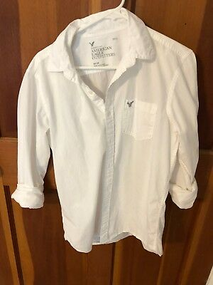 American Eagle Outfitters Mens M Long Sleeve Button Down Shirt White