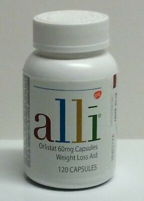 ALLI - Weight Loss Aid - Orlistat 60mg Capsules - 120Count - Expires 012020