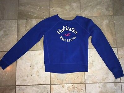 Hollister Co- Women's Sweatshirt Size Small Blue Casual Comfy Wave Rescue