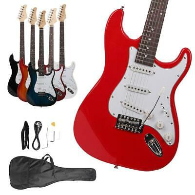New Colorful Electric Guitar-Strap-Cord-Gigbag Beginner Pack Accessories
