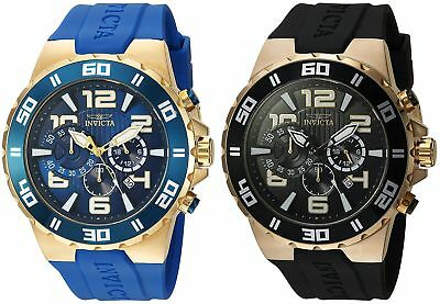 Invicta Mens Pro Diver Chronograph 52mm Gold-Tone Watch - Choice of Color