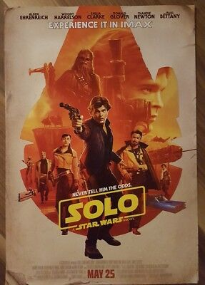 SOLO A STAR WARS STORY Official Movie 13 x 19 PREMIERE NIGHT IMAX Poster