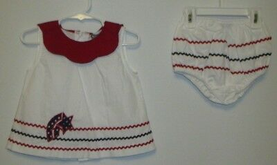 EUC 24M GIRLS BOUTIQUE PETIT CONFECTION 4TH OF JULY OUTFIT