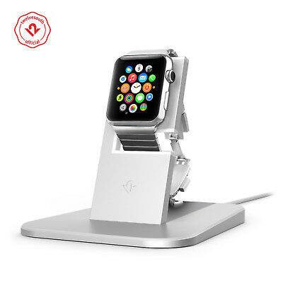 Twelve South HiRise for Apple Watch silver Metal charging dock for Apple Watch