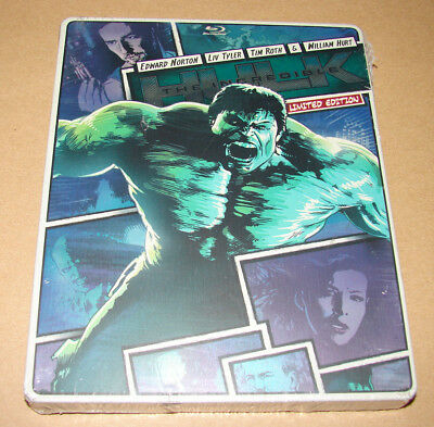 New The Incredible Hulk 2013 Limited Edition Steelbook Case Blu-Ray - DVD