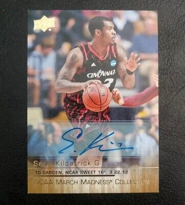 2014-15 Upper Deck NCAA March Madness Collection Sean Kilpatrick Auto RC SK-1