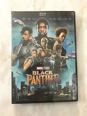Black Panther DVD 2018 Brand New Sealed Fast Free Shipping