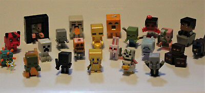 MINECRAFT Mini Figures Lot 22 - Chest Endstone Biome Settlers Spooky Series