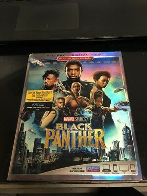 Black Panther Blu-ray - Digital HD - Slipcover Brand New FAST Free Shipping