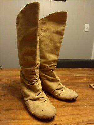 Aldo Wedge Canvas Boots Womens Shoes 6M USED GOOD CONDITION