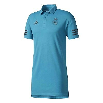 RARE NWT REAL MADRID ADIDAS UEFA 2017-18 CHAMPIONS LEAGUE POLO M TEAL SHIRT NEW