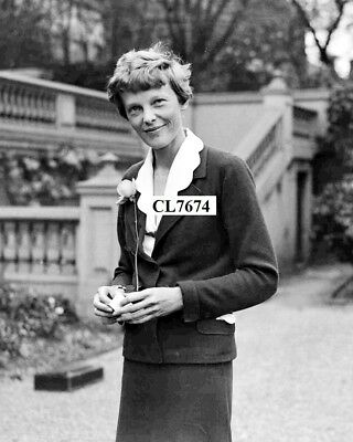 Amelia Earhart in the Garden of the American Embassy in London Photo