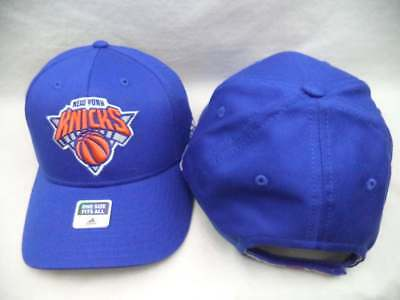 New York Knicks Adidas NBA Blue Structured Adjustable Hat Cap OSFA