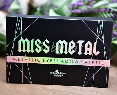 Miss Metals Eyeshadow Palette Shimmer Pigment Metallic Vivid Eye Makeup Italia