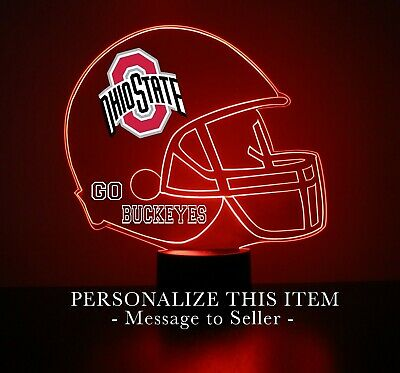 Ohio State Buckeyes College Football LED Sports Fan Lamp Personalized Free