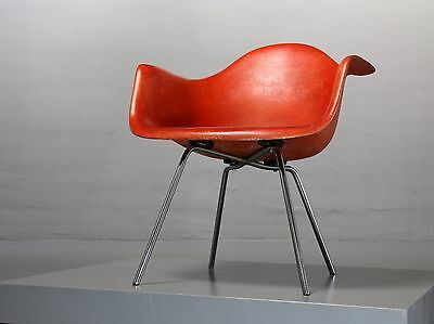 Eames 1st Generation Rope LAX Armchair Zenith Plastics Herman Miller Salmon  Red