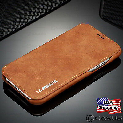 For Galaxy Note 2010 Ultra S20S10S9 Plus Leather Wallet Thin Slim Case Cover