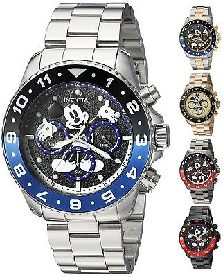 Invicta Disney Limited Edition Mens 44mm Chronograph Watch - Choice of Color