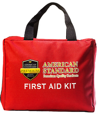 First Aid Kit Emergency Medical - Survival Bag OSHA Compliant FDA Approved 224PC