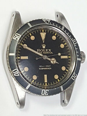 5508 Gilt Dial Rolex Submariner SS Mens Watch From Original Owner