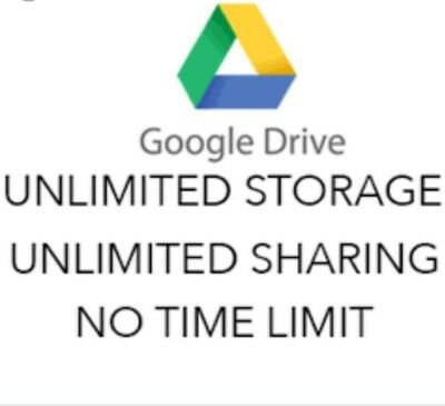 Only today Unlimited Google Drive for your existing account LIFETIME