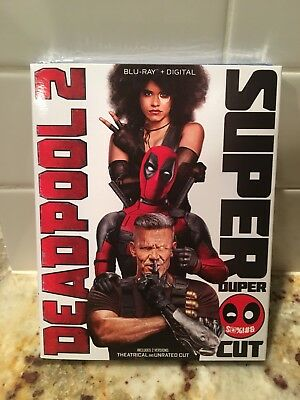 Deadpool 2 Blu-ray Set 2-Disc Super Duper Cut 2018 LIKE NEW with Slipcover