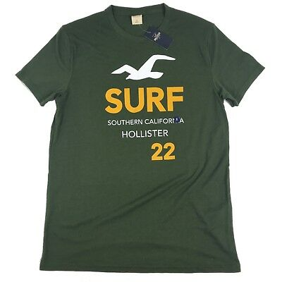 Hollister Co Mens Green Surf 22 Cotton Shirt NWT Size S