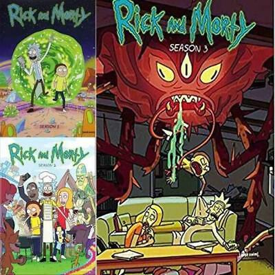 RICK AND MORTY Season 1-3 DVD Set 1 2 3 NEW
