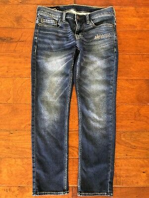 Hollister Co Mens Skinny Blue Stretch Jeans Size 29x30