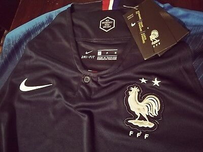 Wow France 2 Stars Champions World Cup Jersey  2019 Nike Size Medium New wtags