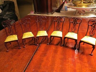 Bespaq Lemon Yellow Dollhouse Chairs