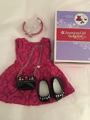 NIB- AMERICAN GIRL MERRY MAGENTA OUTFIT DRESS PURSE NEW