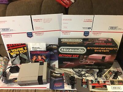 Original Nintendo NES Console ActioN Set Console System In Box Working