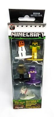 Minecraft Diecast Figure 5-Pack Nano Metal Figs -  Collectible Set Toys 2018