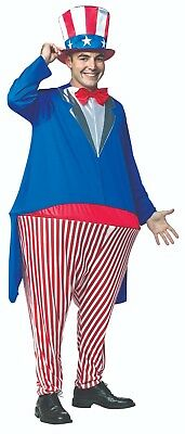 Uncle Sam Hoopster Mens Costume Adult-Sized 6654