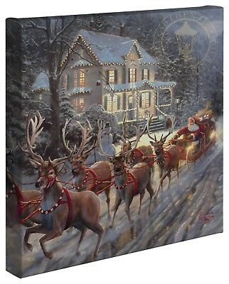 Thomas Kinkade Holiday Collection 14 x 14 Gallery Wrapped Canvas Choice of 4