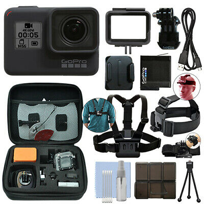 GoPro HERO7 Black 12 MP Waterproof 4K Camera Camcorder - Ultimate Action Bundle