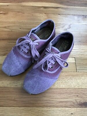 Tom's Lace Up Shoes Slip On Authentic Womens Size 7-5 Rare Purple Ombre