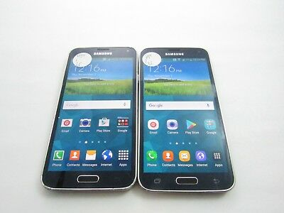 Cracked Lot of 2 Samsung Galaxy S5 G900A AT-T Check IMEI 4CR-1146