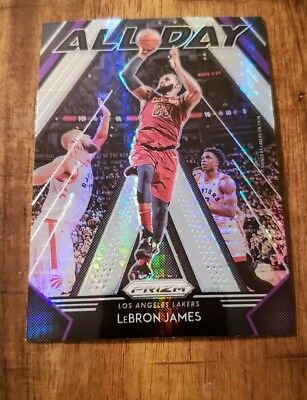 2018-19 Prizm BASKETBALL ALL DAY SILVER REFRACTOR INSERT Lebron James LAKERS