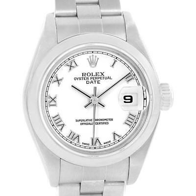 Rolex Date 26 White Dial Oyster Bracelet Ladies Watch 79160