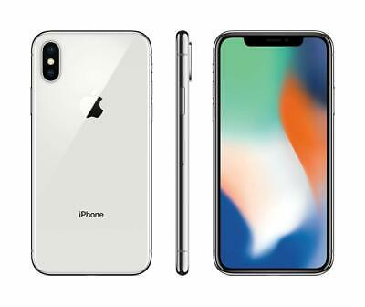 Apple iPhone X - 64GB - Silver - Verizon T-Mobile AT-T GSM Unlocked Smartphone