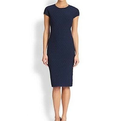 Pink Tartan Navy Honeycomb Dress stretch knit M 4 6 395 Kate Middleton