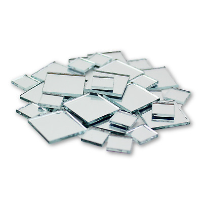 Small Mini Square Craft Mirrors 0-5 - 1 Inch 25 Pieces Mirror Mosaic Tiles