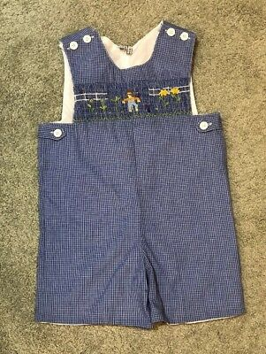 Fall Holiday Smocked Outfit Sz 5 Scarecrow Thanksgiving Harvest Christmas EUC