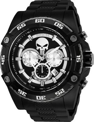 Invicta 26862 Marvel Punisher Mens 52mm Chronograph Black-Tone Steel Watch