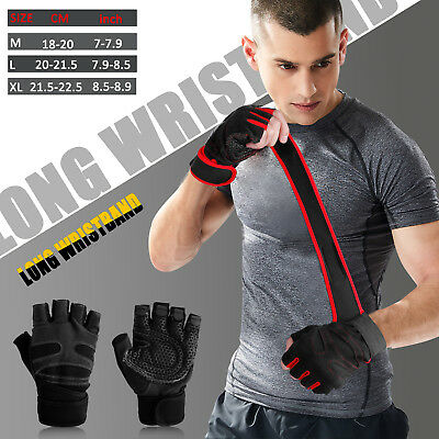 Men Women Gym Gloves With Wrist Wrap Support For Weight LiftingWorkoutFitness