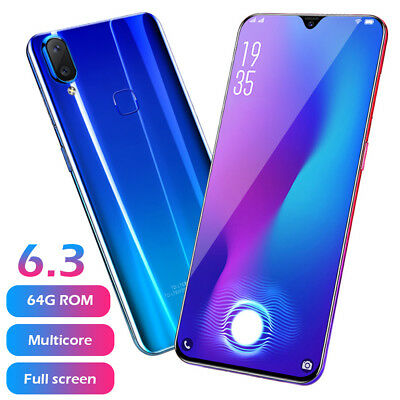 4- 64GB Android 8-1 Unlocked 6-3 Cell Phone Quad Core Dual SIM 3G4G Smartphone