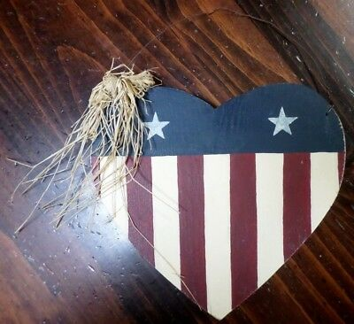 Fourth Of July Wooden Hanging Sign-Independence Day Decoration-4Th-Handmade